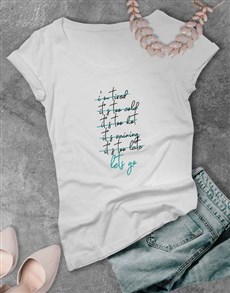 gifts: Lets Go Ladies T Shirt!