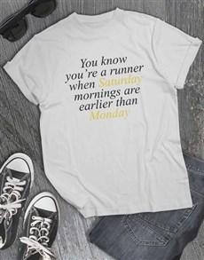 gifts: Saturday Morning Runs T Shirt!