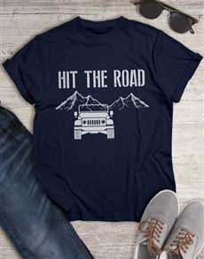 gifts: Hit The Road Jeep T Shirt!