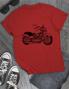 gifts: Motorcycle Sketch T Shirt!