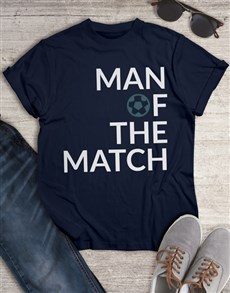 gifts: Man Of The Match T Shirt!