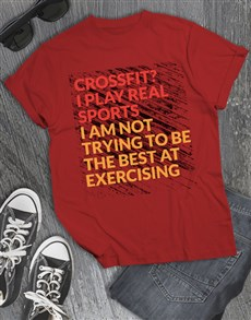 gifts: I Play Real Sports T Shirt!