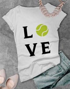 gifts: Love Tennis Ladies T Shirt!