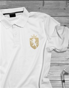 gifts: Coat of Arms Lion Printed Polo Shirt!