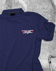 gifts: Top Dad Printed Golf Shirt!