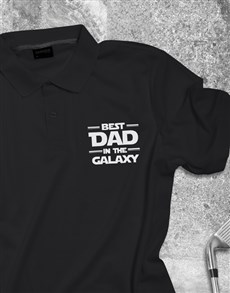 gifts: Best Dad In Galaxy Printed Golf Shirt!