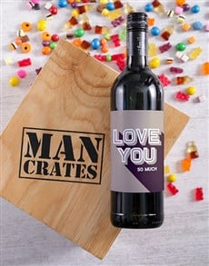 gifts: Love You Wine Man Crate!