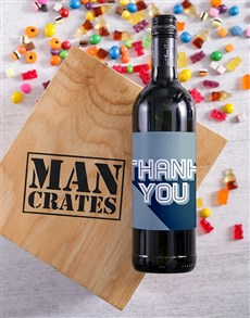 gifts: Thank You Wine Man Crate!