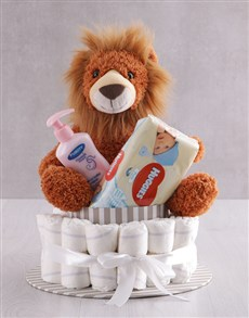 Picture of Lion And Products Nappy Cake!