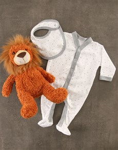 gifts: Baby Lion Striped Gift Set!