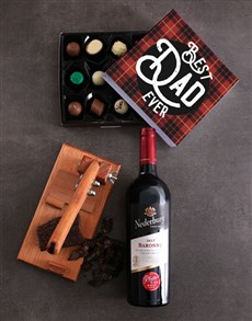 gifts: Wine Biltong And Truffle Hamper For Dad!