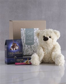 gifts: Get Well Teddy and Nougat Gift Hamper!