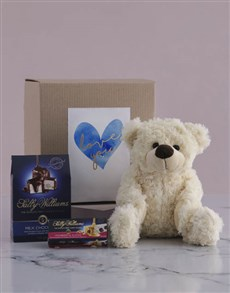 gifts: Love you Teddy and Nougat Gift Hamper!