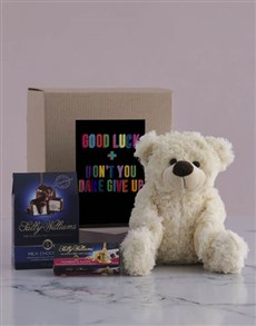 gifts: Good Luck Teddy and Nougat Hamper!