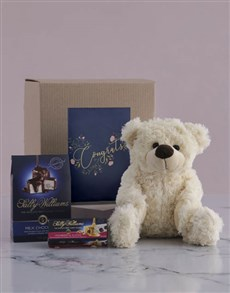 gifts: Congrats Teddy and Nougat Hamper!
