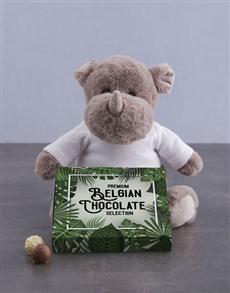 gifts: Rhino and Chocolate Tray!