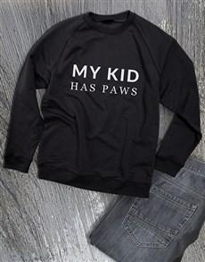 gifts: My Kid Has Paws Ladies Sweatshirt!