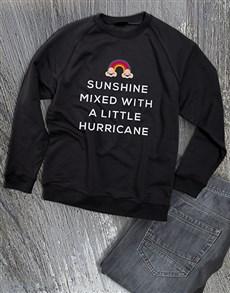gifts: Sunshine With A Hurricane Ladies Sweatshirt!