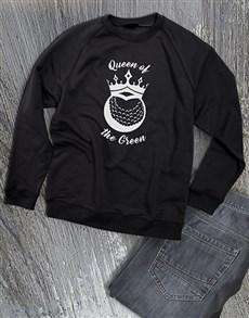 gifts: Queen Of The Green Ladies Sweatshirt!