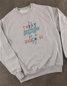 gifts: Choose To Be A Unicorn Ladies Sweatshirt!