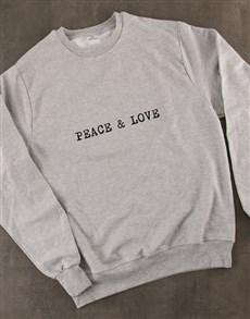 gifts: Peace And Love Ladies Sweatshirt!