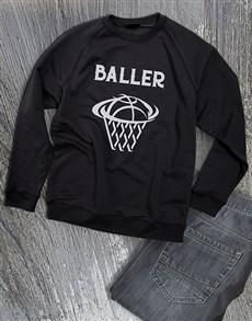 gifts: Basket Baller Sweatshirt!