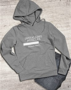gifts: Installing Muscles Hoodie!