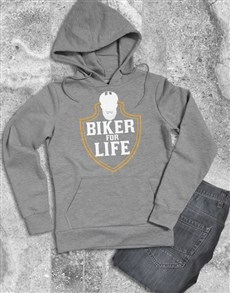 gifts: Biker For Life Hoodie!