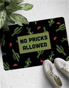gifts: No Pricks Allowed Doormat!