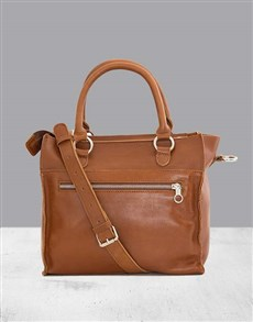 gifts: Zemp Bastille Toffee Tan Handbag!