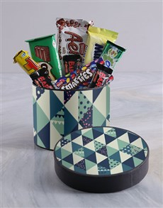 gifts: Shades of Blue Hat Box!