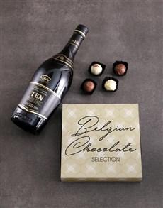 gifts: KWV Brandy and truffle box!