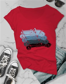 gifts: Retro Colourful Ladies T Shirt!