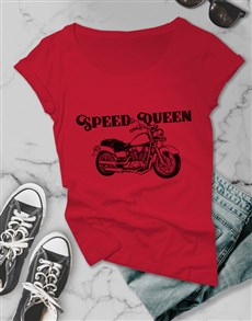 gifts: Speed Queen Motorcycle Ladies T Shirt!