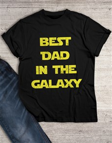 gifts: Best Dad in Galaxy T Shirt!