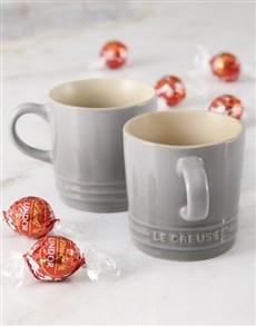 gifts: Le Creuset Mist Grey Cappuccino Mug Hamper!