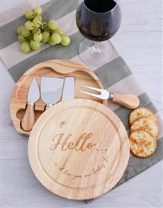 gifts: Hello Is it Brie Cheese Board with Knives!