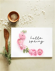 gifts: Hello Spring Glass Chopping Board !