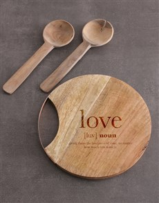 gifts: Love Round Chopping Board!
