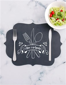 gifts: Bon Appetit Chalk Board Placemat!