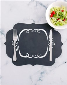 gifts: Decorative Chalk Board Placemat!