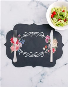 gifts: Floral Chalk Board Placemat!