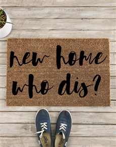 gifts: New Home Who Dis Doormat!