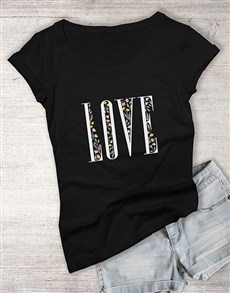 gifts: Love Floral Ladies T Shirt!