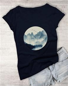 gifts: Indigo Watercolour Ladies T Shirt!