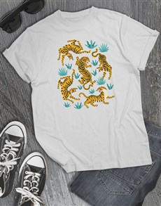 gifts: White Tiger Graphic T Shirt!