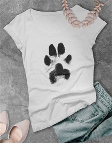 gifts: Dusty Paw Print Ladies T Shirt!