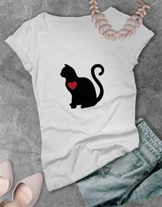 gifts: Cat Love Ladies T Shirt!