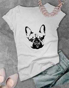 gifts: French Bulldog Graphic Print Ladies T Shirt!