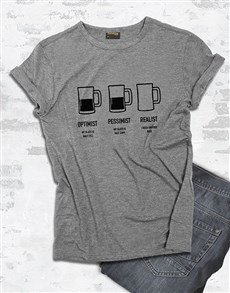 gifts: Beer Glass Half Full T Shirt!